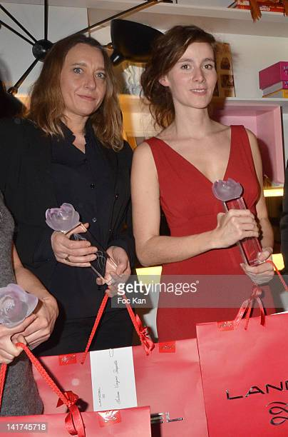 Virginie Despentes and Emilie de Turckheim attend the 'Prix Bel Ami 2012' Women Literary Awards at Hotel Bel Ami on March 22 2012 in Paris France