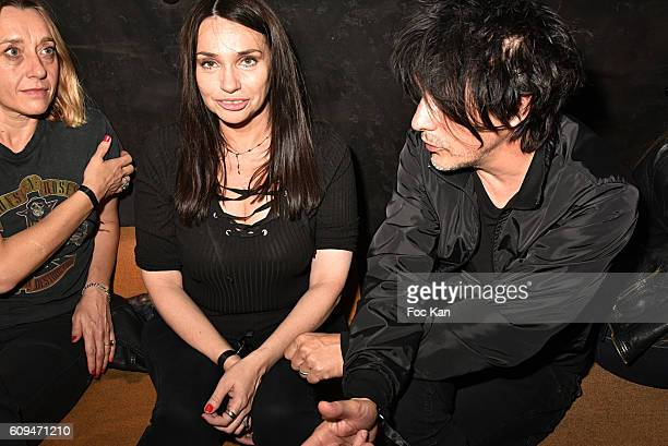 Virginie Despentes Beatrice Dalle and Nicola Sirkisattends the 'L'Etoile Du jour' Party at Silencio Club on September on September 20 2016 in Paris...