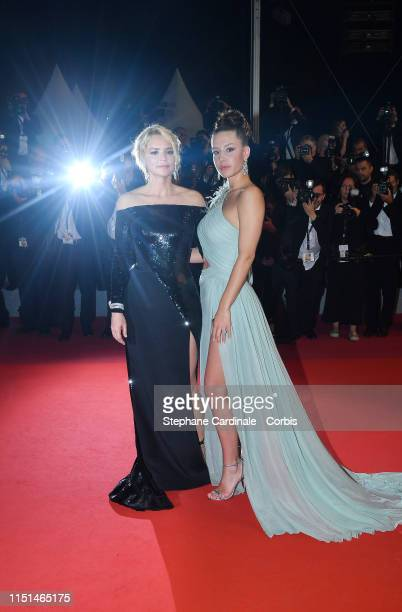 "Virginie Efira and Adèle Exarchopoulos depart the screening of ""Sibyl"" during the 72nd annual Cannes Film Festival on May 24, 2019 in Cannes, France."