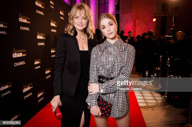 Virginie Efira and Alice Isaaz attend the 'Cesar Revelations 2018' party at Le Petit Palais on January 15 2018 in Paris France