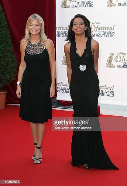 Virginie Efira and Audrey Pulvar during 45th Monte Carlo Television Festival Opening Ceremony Red Carpet at Grimaldi Forum in Monte Carlo Monaco
