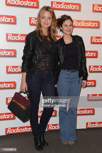 Virginie Efira and Melanie Bernier attend 'Radiostars' premiere at Cinema UGC Normandie on April 2 2012 in Paris France