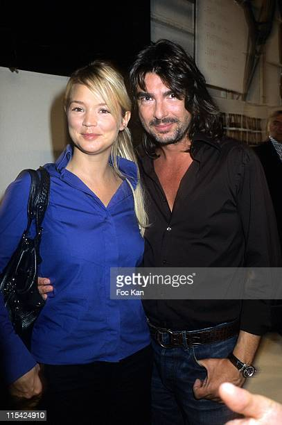 Virginie Efira and Stephane Rolland during Paris Fashion Week Spring/Summer 2007 Jean Louis Scherrer Front Row and Backstage at Carrousel Du Louvre...