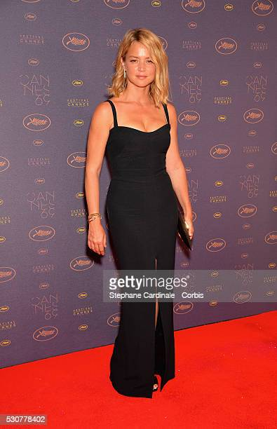 Virginie Efira arrives at the Opening Gala Dinner during The 69th Annual Cannes Film Festival on May 11 2016 in Cannes France