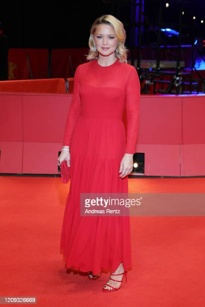 """Virginie Efira arrives for the """"Police"""" premiere during the 70th Berlinale International Film Festival Berlin at Berlinale Palace on February 28,..."""
