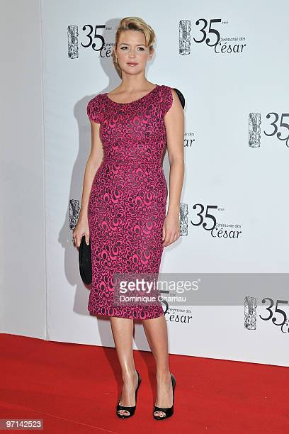 Virginie Efira attends the 35th Cesar Film Awards at Theatre du Chatelet on February 27 2010 in Paris France