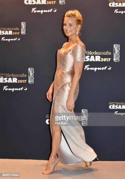 Virginie Efira attends the Cesar's Dinner at Le Fouquet's on February 24 2017 in Paris France