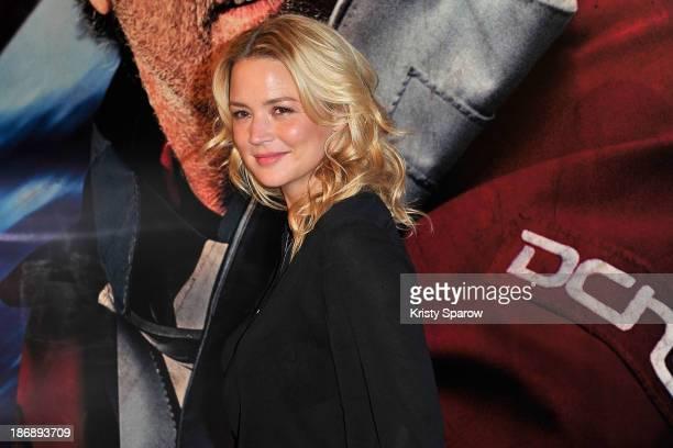 Virginie Efira attends the 'En Solitaire' Paris Premiere at Cinema Gaumont Capucine on November 4 2013 in Paris France