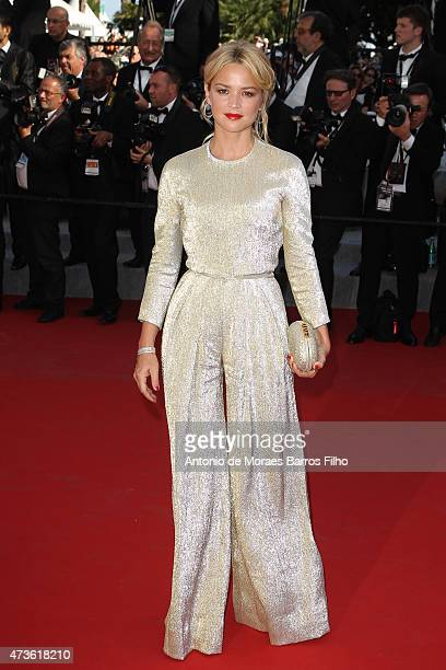 Virginie Efira attends the 'Mia Madre' premiere during the 68th annual Cannes Film Festival on May 16 2015 in Cannes France