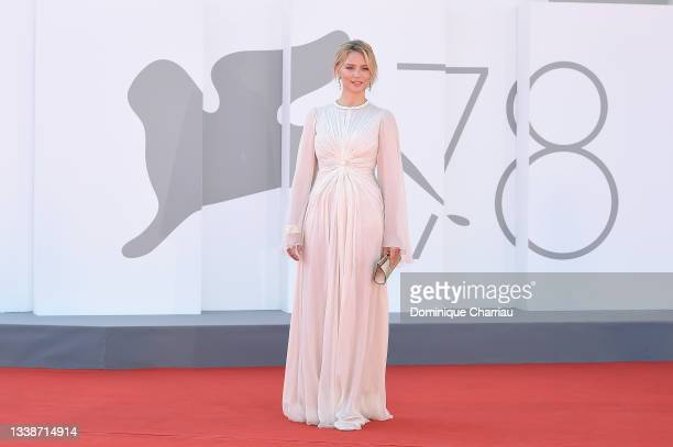 """Virginie Efira attends the red carpet of the movie """"L'Evenement"""" during the 78th Venice International Film Festival on September 06, 2021 in Venice,..."""