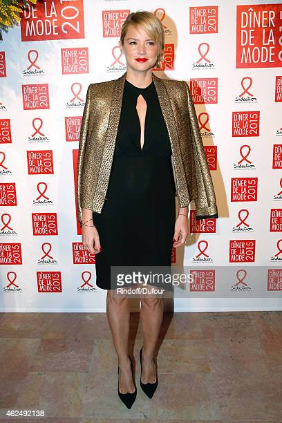 Virginie Efira attends the Sidaction Gala Dinner 2015 at Pavillon d'Armenonville on January 29 2015 in Paris France