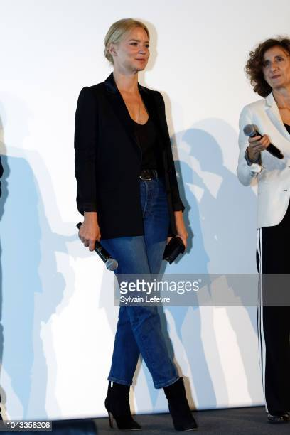 Virginie Efira attends 'Un amour impossible' premiere during 33rd Namur International FrenchLanguage Film Festival FIFF on September 29 2018 in Namur...