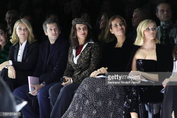 Virginie Efira Guillaume Canet Juliette Binoche Roberta Armani and Reese Witherspoon attend the Giorgio Armani Prive Haute Couture Spring/Summer 2020...