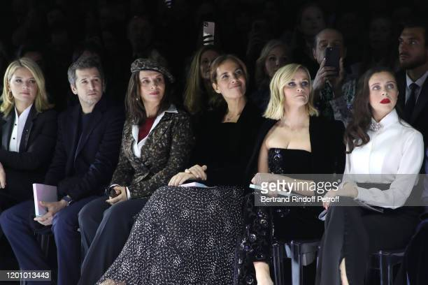 Virginie Efira Guillaume Canet Juliette Binoche Roberta Armani Reese Witherspoon and Bel Powley attend the Giorgio Armani Prive Haute Couture...