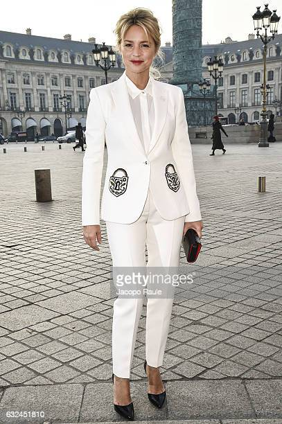Virginie Efira is seen arriving at Schiaparelli Fashion show during Paris Fashion Week Haute Couture F/W 20172018 on January 23 2017 in Paris France