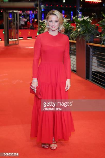 """Virginie Efira poses at the """"Police"""" premiere during the 70th Berlinale International Film Festival Berlin at Berlinale Palace on February 28, 2020..."""