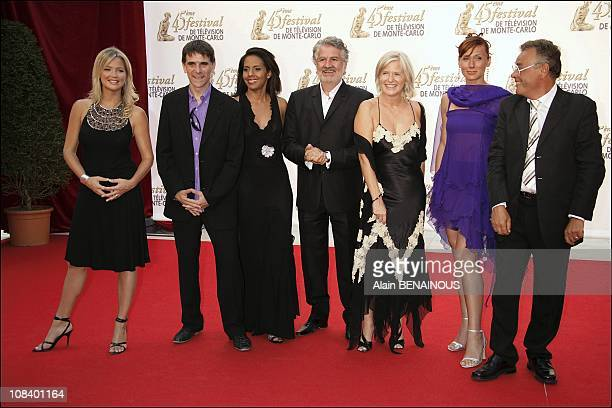 Virginie Efira Tex Audrey Pulvar Roland Magdane Catherine Ceylac Frederique Courtadon and Jean Roucas in Monaco on June 26 2005