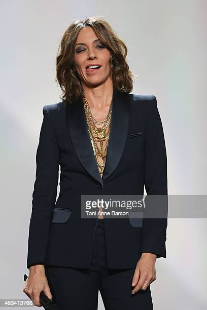 Virginie Guilhaume hosts Les Victoires De La Musique at Le Zenith on February 13 2015 in Paris France