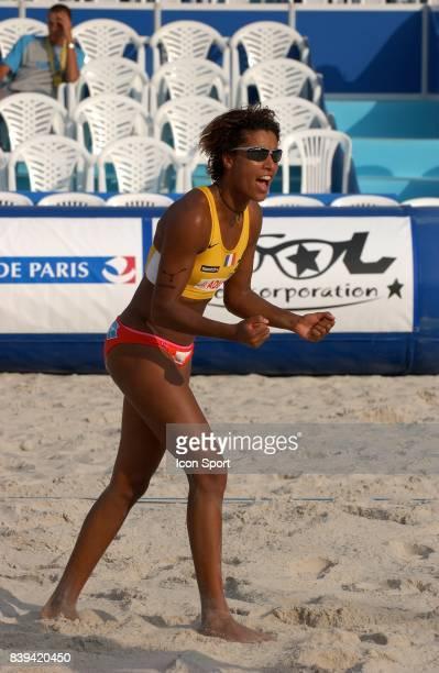 Virginie KADJO Beach Volley Swatch FIVB World Tour 2005 Tournoi Paris Grand Chelem Champ de Mars