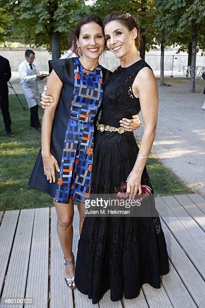 Virginie Ledoyen and Clotilde Courau attend Montblanc Boheme Event Paris at Orangerie Ephemere on July 10 2015 in Paris France