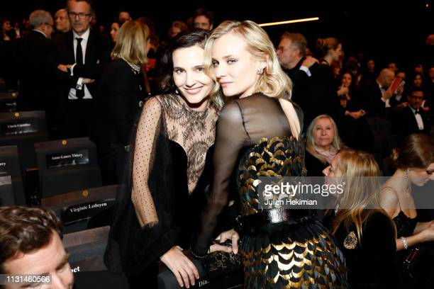 Virginie Ledoyen and Diane Kruger pose during the Cesar Film Awards 2019 at Salle Pleyel on February 22 2019 in Paris France