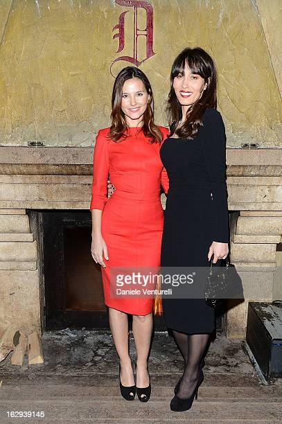 Virginie Ledoyen and Dolores Chaplin attend the BULGARI St Moritz High Jewellery Presentation on March 1 2013 in St Moritz Switzerland