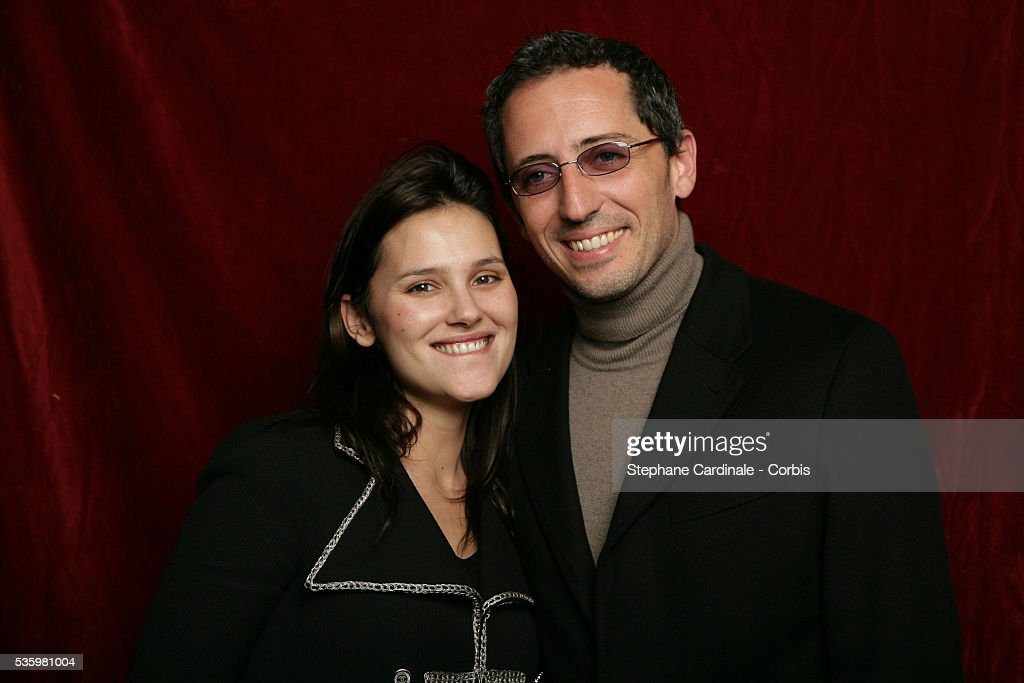 Virginie Ledoyen and Gad Elmaleh at the 'Henri Jeanson' prize ceremony.