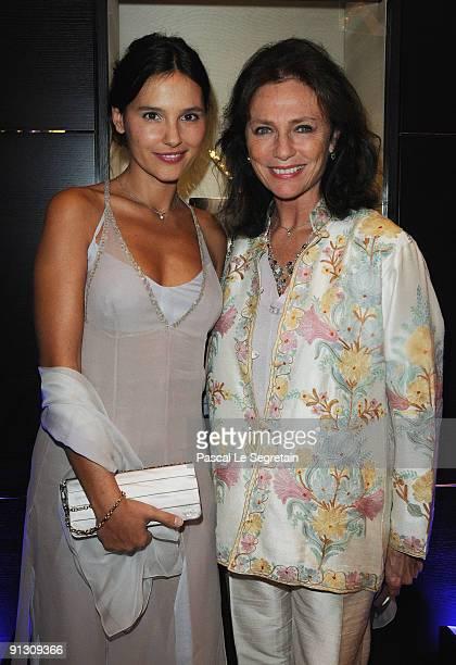 Virginie Ledoyen and Jacqueline Bisset attend the Montblanc Paris Flagship Boutique Launch Inauguration Cocktail party on October 1 2009 in Paris...