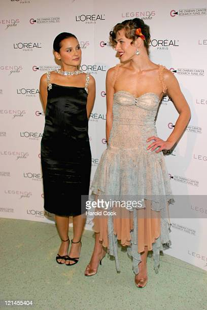 Virginie Ledoyen and Milla Jovovich during The 2nd Annual Legends Gala at Metropolitan Pavilion and Altman Building in New York New York United States