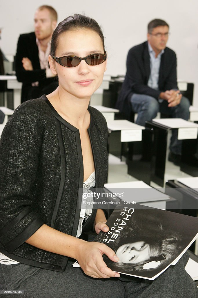 Virginie Ledoyen attends the Chanel 'Haute Couture' 2005-2006 Fall/Winter fashion collection.