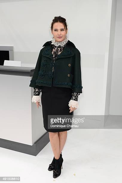 Virginie Ledoyen attends the Chanel show as part of the Paris Fashion Week Womenswear Spring/Summer 2016 on October 6 2015 in Paris France