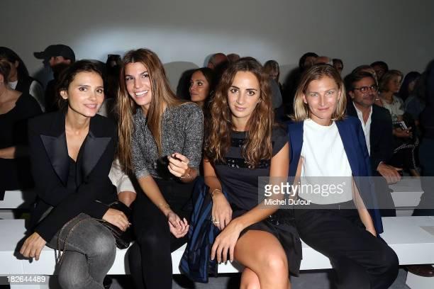 Virginie Ledoyen Bianca Brandolini d'Adda Alexia Niedzielski and Elisabeth von Guttman attend the Moncler Gamme Rouge show as part of the Paris...