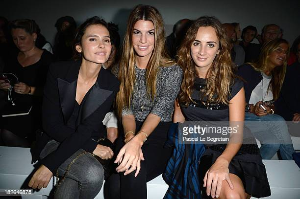 Virginie Ledoyen Bianca Brandolini d'Adda and Alexia Niedzielski attend Moncler Gamme Rouge show as part of the Paris Fashion Week Womenswear...