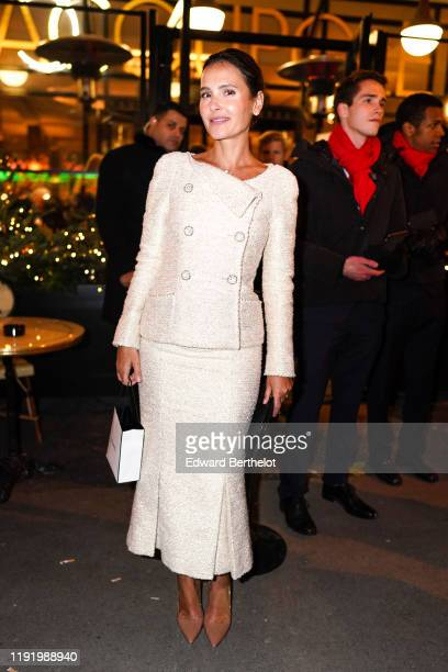 Virginie Ledoyen is seen, during the Chanel Metiers d'art 2019-2020 dinner at La Coupole restaurant, on December 04, 2019 in Paris, France.