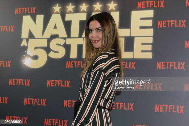 Virginie Marsan attend the Premiere of the Netflix movie 'Natale A 5 Stelle' at The Space Moderno in Rome Italy.
