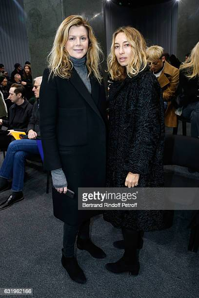 Virginie Mouzat and Alexandra Golovanoff attend the Balenciaga Menswear Fall/Winter 20172018 show as part of Paris Fashion Week on January 18 2017 in...
