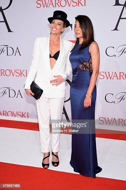 Virginie Promeyrat Designer Founder House of Lafayette and Aida Khoursheed attend the 2015 CFDA Fashion Awards at Alice Tully Hall at Lincoln Center...