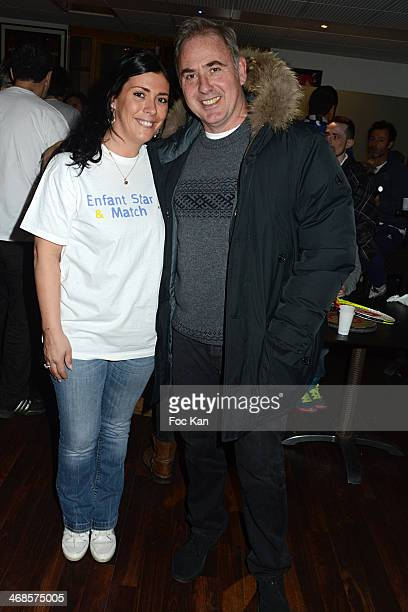 Virginie Rame and Philippe Risoli attend the 'Sourire Gagnant' Charity Event to Benefit 'Enfant Star Et Match' At Sporting Tennis Club on February 10...