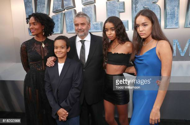 Virginie Silla Luc Besson and family attend the premiere of EuropaCorp And STX Entertainment's 'Valerian And The City Of A Thousand Planets' at TCL...