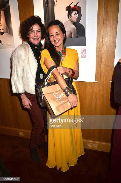 Virginie Thevenet and Harumi Klossowska de Rola attend the Christian Louboutin 20th Anniversary Book Launch at Christian Louboutin - Galerie...