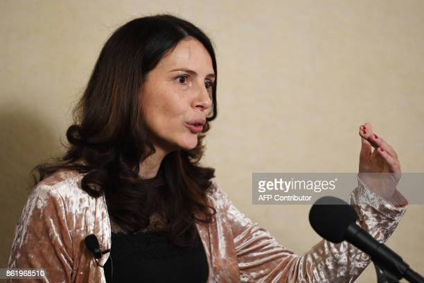 Virgo Collaboration/Gran Sasso Science Institute of Italy Marica Branchesi speaks at the National Press Club in Washington, DC, October 16 about new...