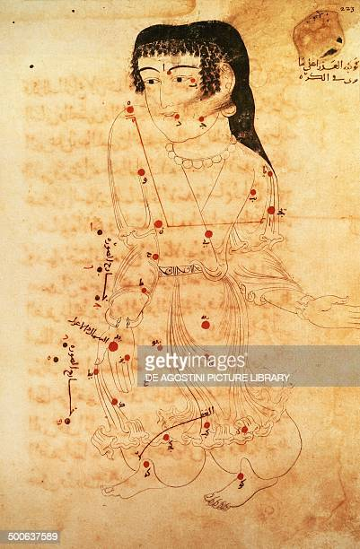 Virgo constellation drawing from the Constellation from the Book of the constellations and fixed stars by the Arabic astronomer Abd alRahman alSufi...