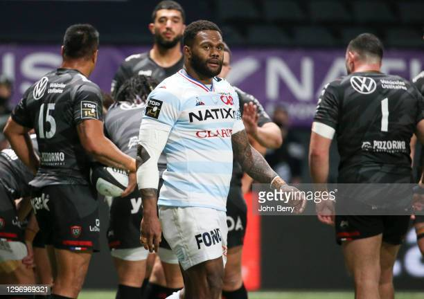Virimi Vakatawa of Racing 92 during the Top 14 match between Racing 92 and RC Toulon at Paris La Defense Arena on January 17, 2021 in Nanterre near...