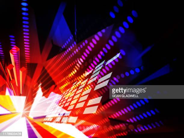 virtual cyberspace illustration - improvement stock pictures, royalty-free photos & images