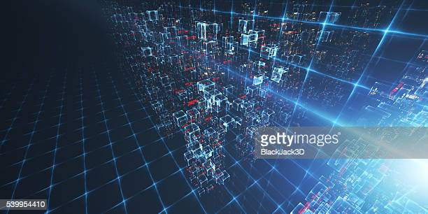 virtual data center - illustration stock pictures, royalty-free photos & images