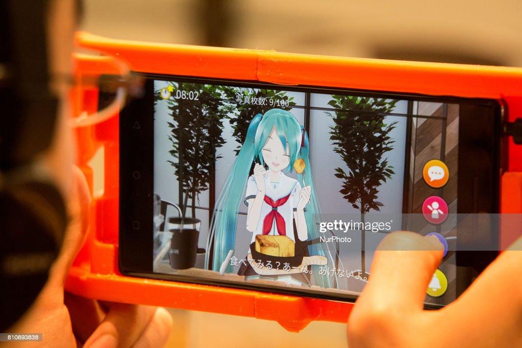 Japan Augmented-reality VR Idol Hatsune Miku : News Photo