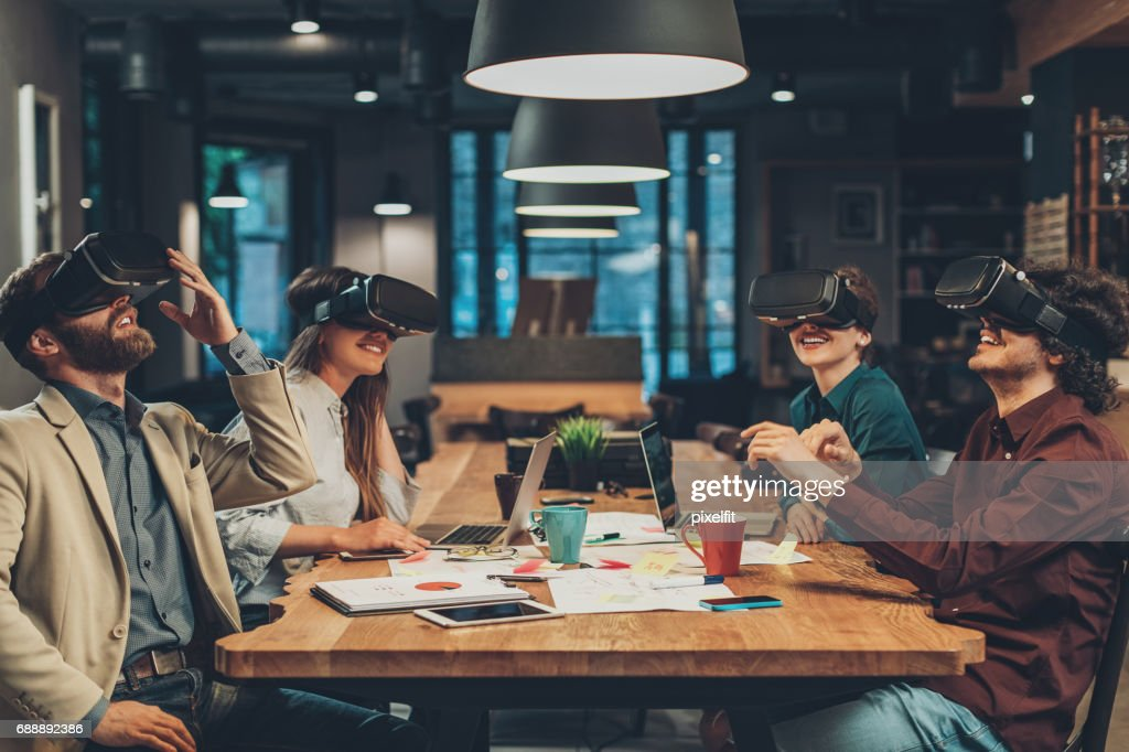 Virtual reality and business : Stock Photo