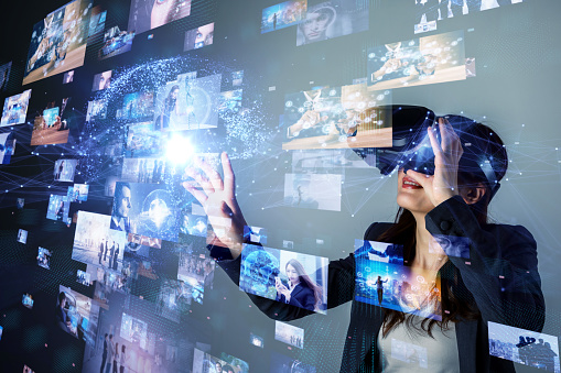 Virtual reality concept. 1054574096