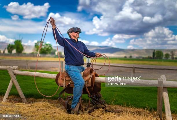 Virtual reality cowboy