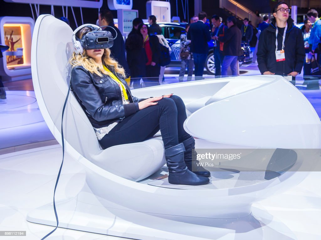 Virtual Reality Demonstration At The Volkswagen Booth At The CES - Vw car show las vegas